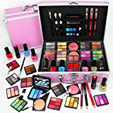 82 Piece Cosmetic Make Up Vanity Case Box Travel Carry Storage Gift Set Love Urban Beauty