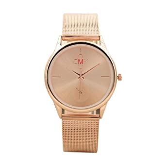 eb9a2343bd1 JYC Mens Watches Thin Case Analog Quartz Stainless Steel Waterproof Classic  Mesh Band Wristwatch Slim Dial Luxury Unisex Watch (Rose Gold)  Amazon.co.uk   ...