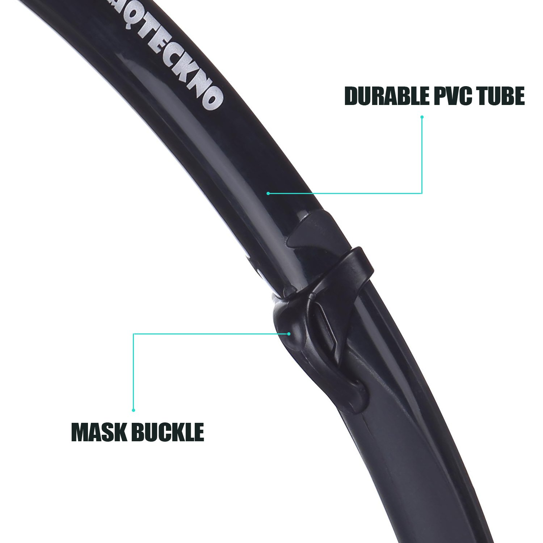 AQTECKNO One Way Purge Valve Free Diving Snorkel PVC Black