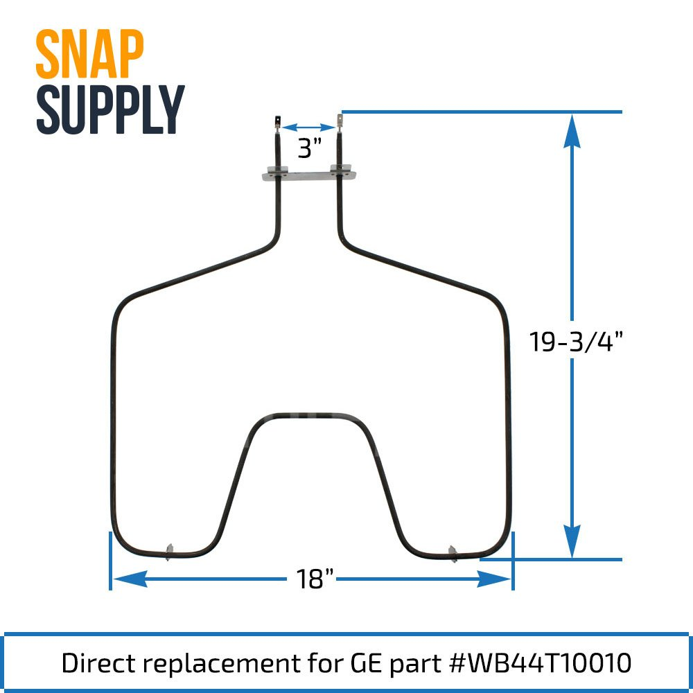 Snap Supply Bake Element For Ge Directly Replaces Spectra Oven Wiring Diagram Wb44t10010 Home Improvement