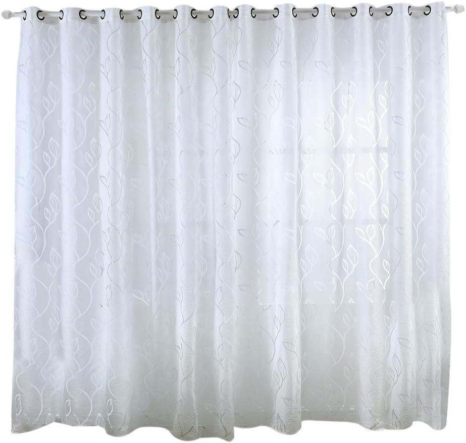 Cortina de habitacion,CHshe ❤1 pcs Panel de cortina de la ventana Sólido Protección contra la luz natural, Bufanda transparente Cenefas