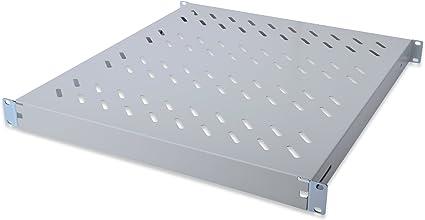 Digitus Professional Shelf with Adjustable Depth for secure installation in 19/Schr/änke 347 mm Tiefe Black
