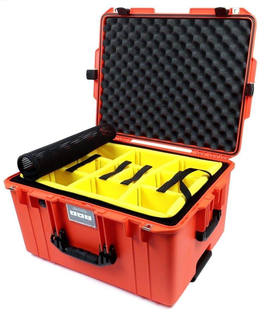 Comes Empty with Wheels. Pelican Silver /& Orange 1607 case