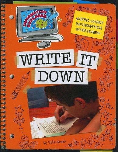Download Super Smart Information Strategies: Write It Down (Information Explorer) ebook