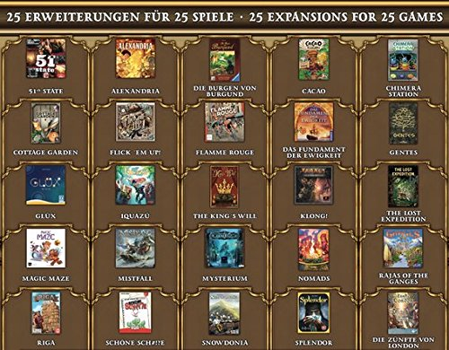 Frosted Games Brettspiel Adventskalender 2017 Advent Calendar: The Great Games Getting Expansions Pieces -