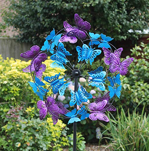 Creekwood Butterflies Garden Wind Spinner Sculpture 170cm Height