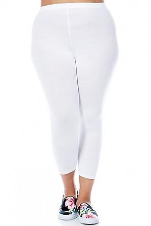 Bozzolo Womens Ladies Plus Size Capri Leggings at Amazon Women's ...