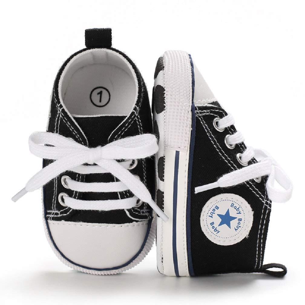 Fnnetiana Unisex Newborn Baby Boys Girls Sneakers Shoes Toddler Anti-Slip Prewalker Infant Shoes 0-18 Month