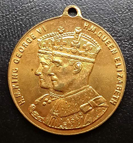 Unbranded 1937 Coronation Medal King George VI & Queen ()