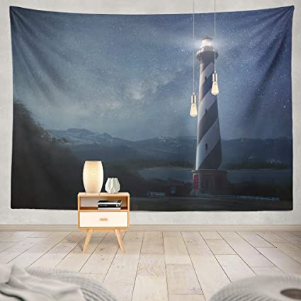 Amazon com: Summor Tapestry A Beautiful Night Sky Behind Shining
