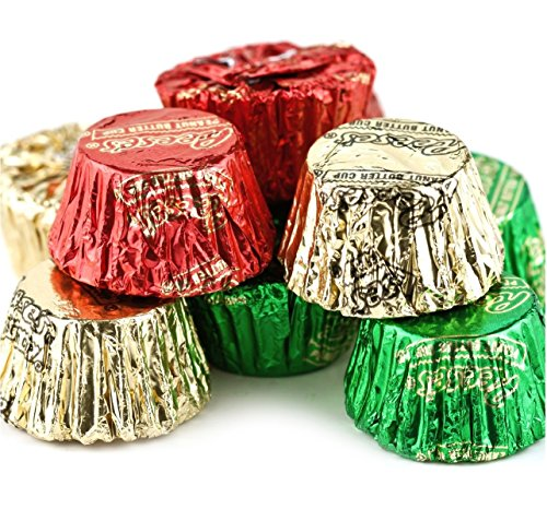 Hershey Reese's Mini Peanut Butter Cups - Red, Green & Gold Christmas Colors