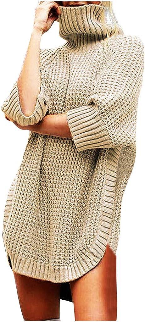 2019 Miuye Yuren Winter Knitted Sweaters for Women Fashion Warm Pullovers Casual Long Sleeve Irregular Tops