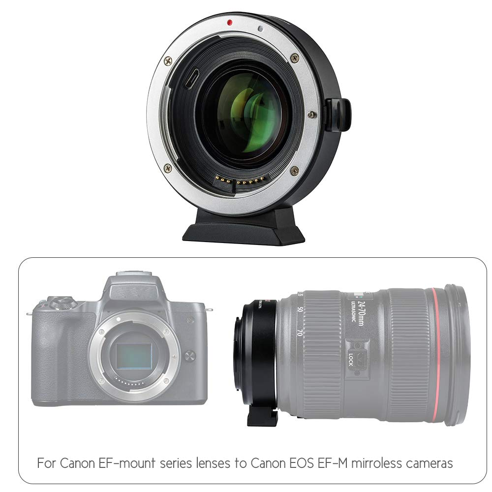 VILTROX EF-EOS M2 Auto Focus Lens Mount Adapter Ring 0.71X Focal Lenth Multiplier USB Upgrade for Canon EF Series Lens to EOS EF-M Mirrorless Camera for Canon EOS M/ M2/ M3/ M5/ M6/ M10/ M50/ M100 by VILTROX (Image #7)