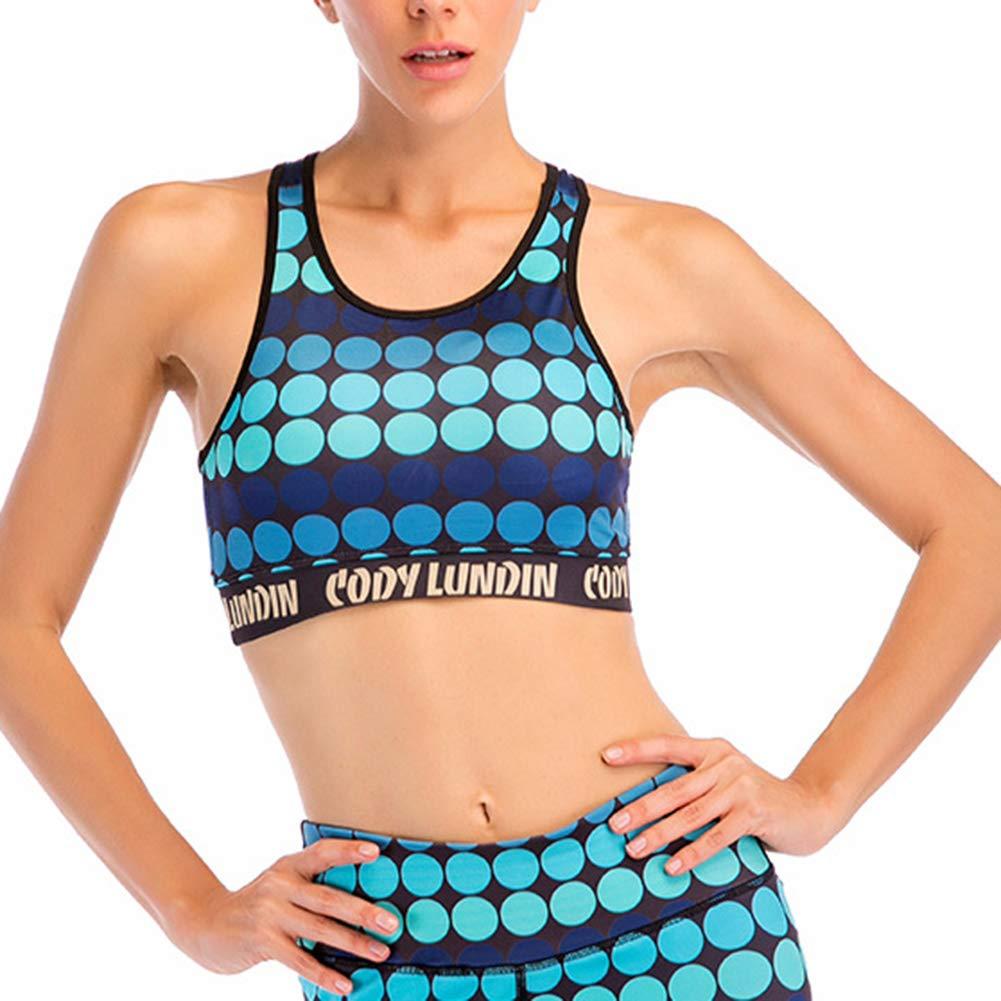 LDHY Damen-Mini-Leibchen-BH, nahtloser Sport-BH, drahtloser Komfort-Trainings-Yoga-BH, 2 Pack-4-Farben