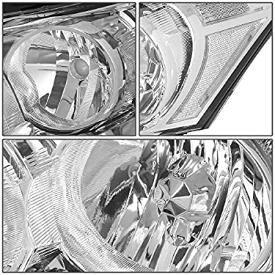 Replacement for Honda Accord 8th Gen Sedan Pair of OE Style Chrome Housing Clear Corner Headlight: Automotive