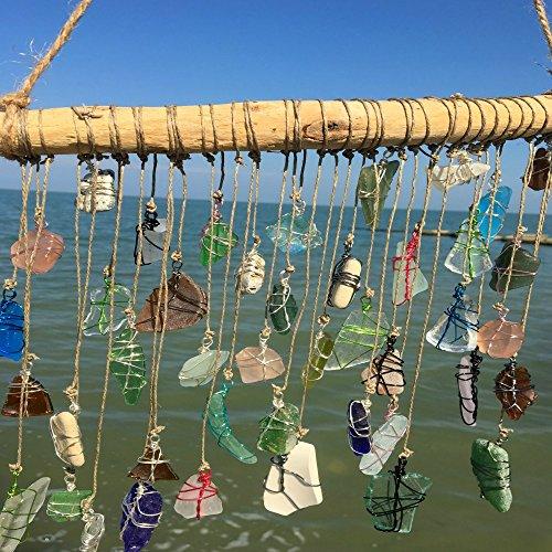 BohoBeach Glass Sun Catcher Eco Friendly Art Whimsical Driftwood Beach Wedding Swap Party Gift by Pier Beach Glass (Image #2)