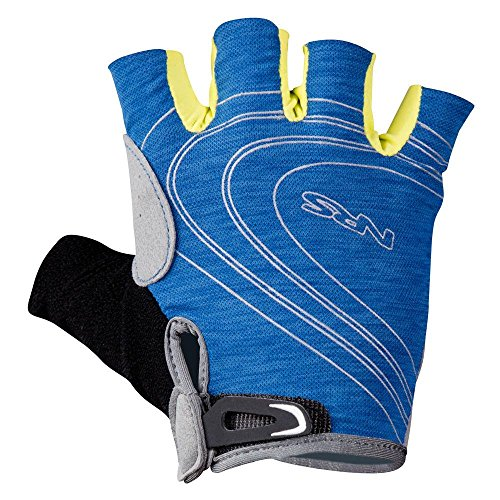 NRS Men's Axiom Half-Finger Gloves-NautBlue-XS by Northwest River Supply