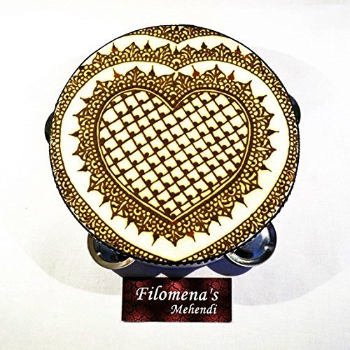 Heart Medieval Henna Tambourine