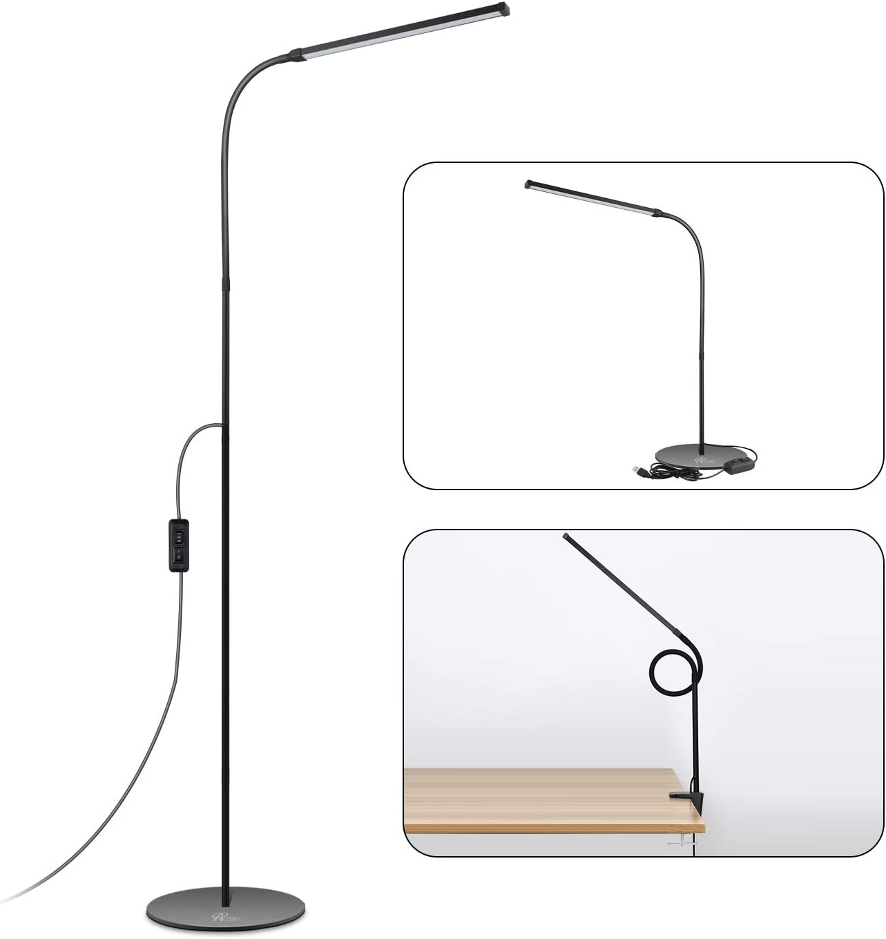 Shaft Floor Lamp with 360 Degree Rotation
