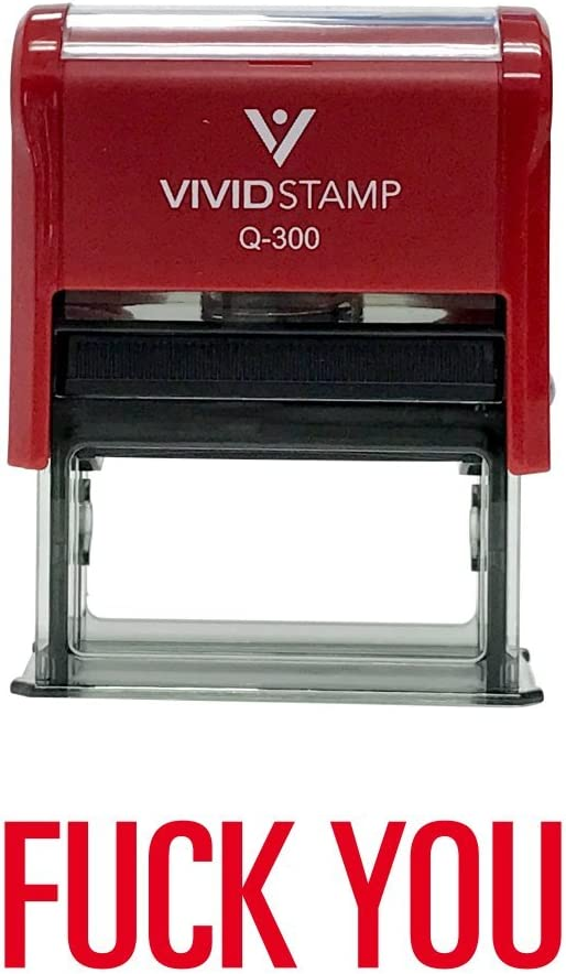 Fuck You Self-Inking Office Rubber Stamp (Red) - Large