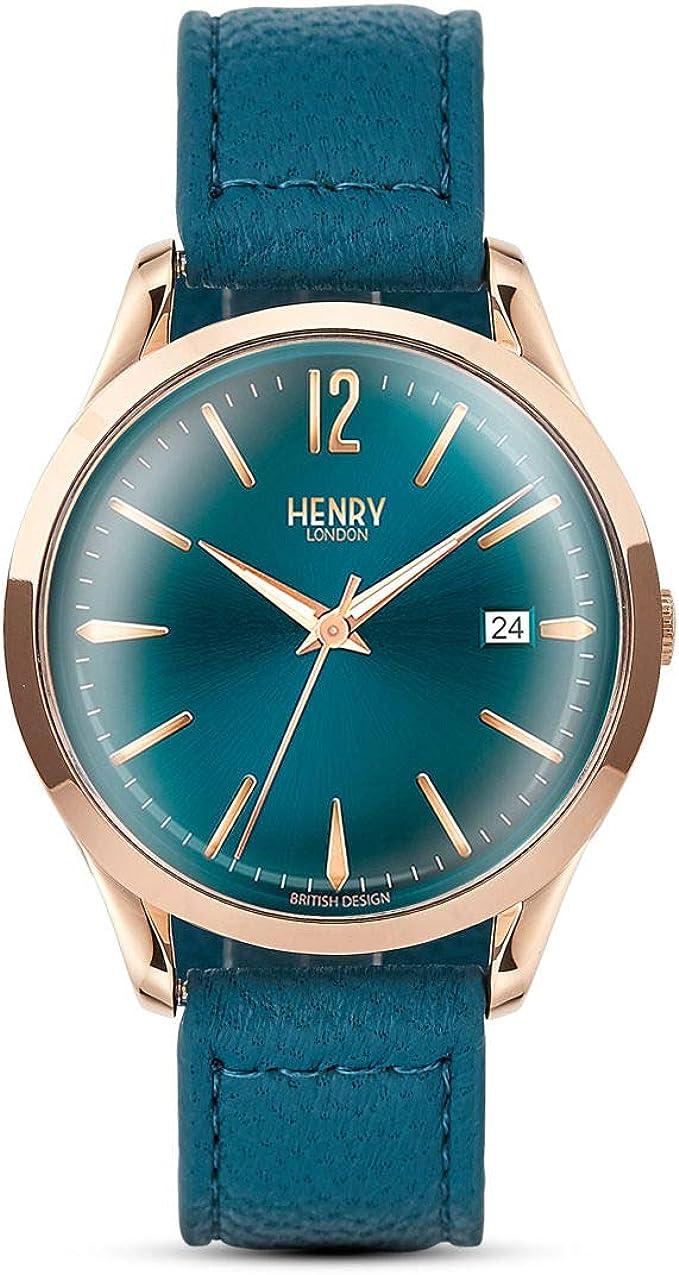 Henry London HL39-S-0134_zv Reloj de Pulsera para Hombre: Amazon ...