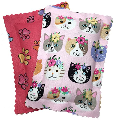 Johnson Pet Products Catnip Pillows Two Pack Pinks Handmade in the USA - Colorful Catnip Sack