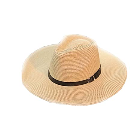 7c0440c2c00cfa Image Unavailable. Image not available for. Color: East Majik Men's Hats  Beach Hat Foldable Straw Hat Cowboy Breathable Hat