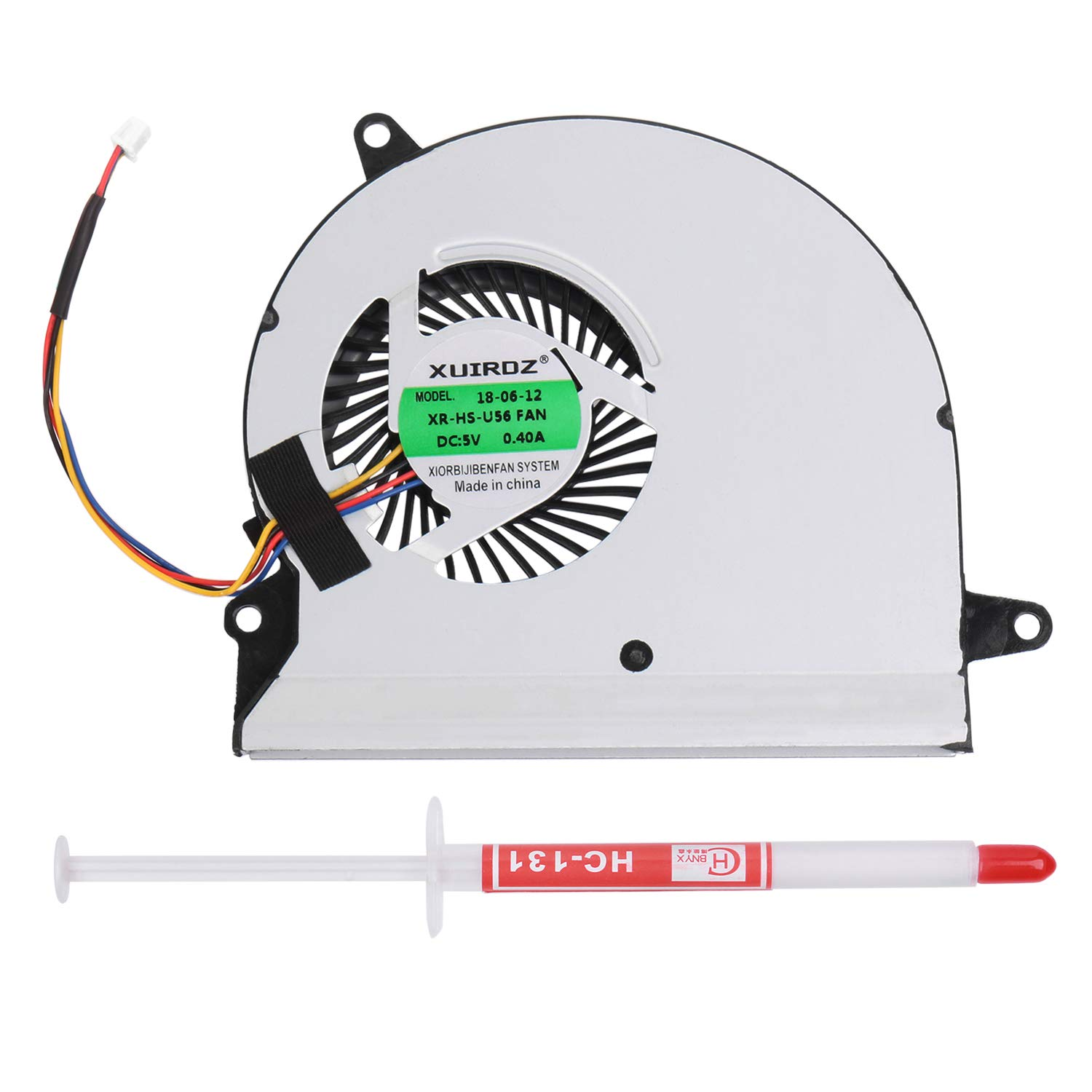 Li-SUN Laptop CPU Cooling Fan for Clevo P150 P150EM P170 P370 P570 760M 750S NP8130 NP8150 NP8170 NP9150 Series Cooler Heatsink Fan with Thermal Grease(P/N 6-31-X720S-101 BS6005MS-U94)