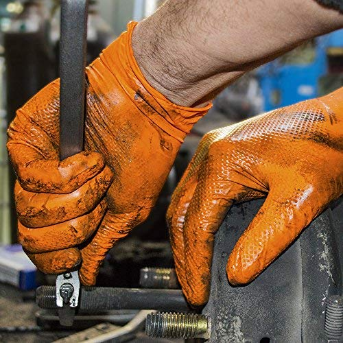 1st Choice Industrial 8 Mil Orange Nitrile Gloves - Latex Free, Powder Free, Non-Sterile, XLarge, Case of 400 by 1st Choice (Image #4)