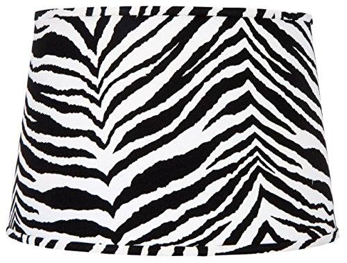 (Upgradelights Zebra Print 16 Inch Barrel Style Replacement Lampshade)