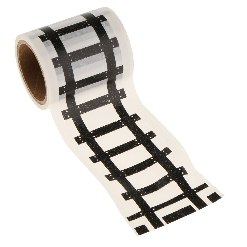 MagiDeal Railway Road Play Adhesive Tape Stickers For Children Toys Train Track Removable