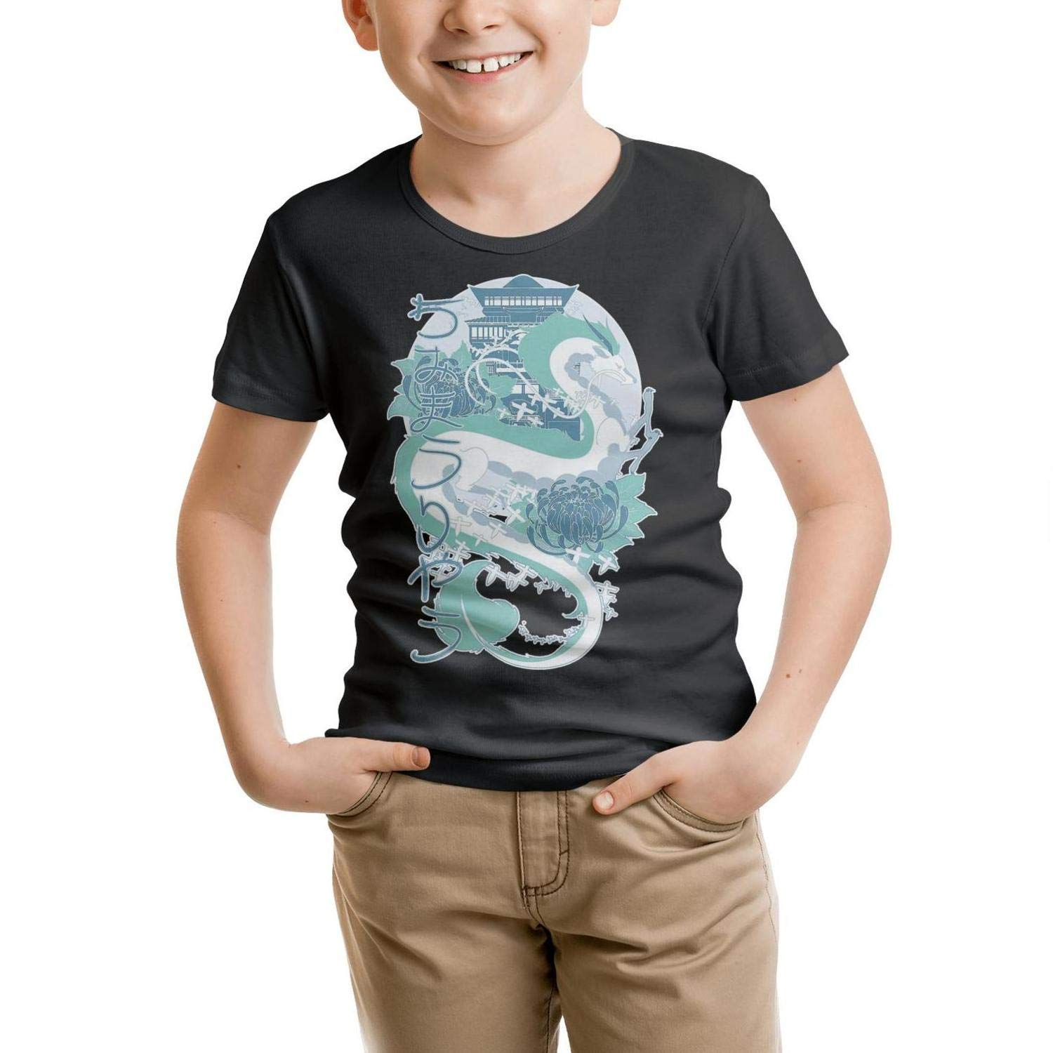 DYONG Short Sleeve Crew Neck Tshirt for Kids Basic Cool Collection Tee