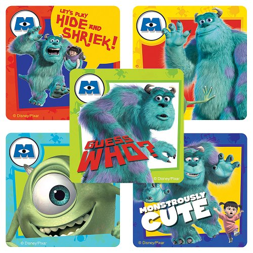 Disney Monsters, Inc. Stickers - Party Favors - 100 Per (Monsters Inc Stickers)