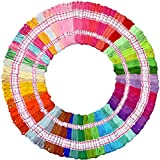 150 Skeins of 8m Multi-color Cotton Cross Stitch Embroidery Threads Floss Sewing