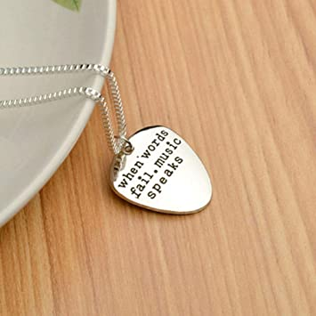 High Quality Couples Necklace Letter Pendant Guitar Pick Pendant Chokers