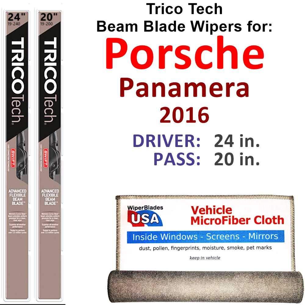 Amazon com: Premium Beam Wiper Blades for 2016 Porsche Panamera