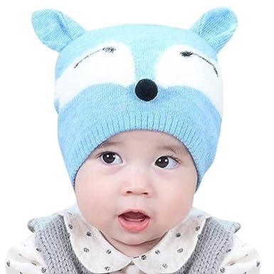Amazon Fox Pattern Cute Baby Winter Warm Knit Hatsmytshop