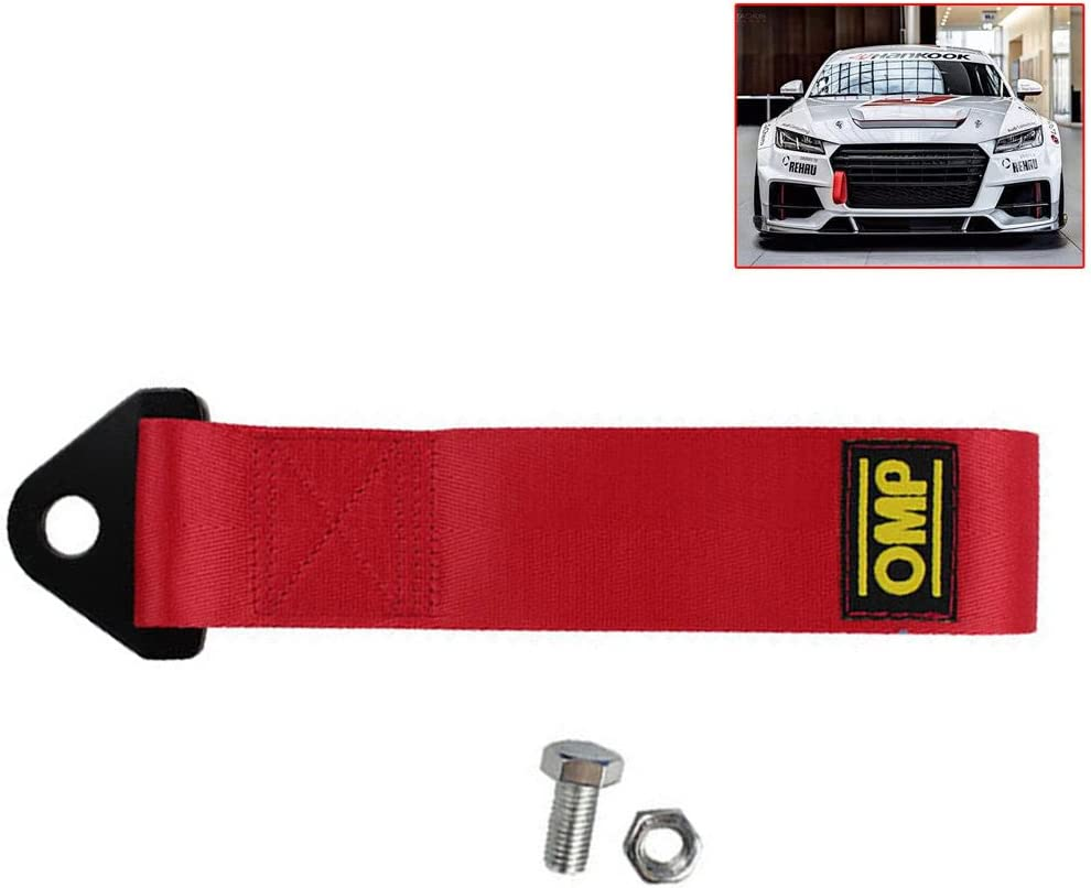 Trailer Rope for Front Rear Bumper Towing Hook Racing Car Tow Strap Nylon Tow Eye Strap High Strength Decorative Brand Marker Blue