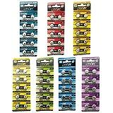 HyperPS (Total 70 pcs) AG0 AG1 AG3 AG4 AG7 AG10 AG13 Alkaline 1.5V Button Cell Battery Single Use Watch Toys Remotes Cameras