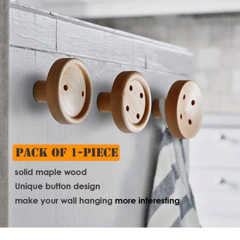 Coat Hooks Wall Mounted Felidio Wall Hooks For Hanging Coats Heavy Duty 1 Piece Solid Wooden Closet Hook Decorative Wall Hanger For Pictures Purse Entryway Hat Rack 1 Piece D Amazon In Office Products