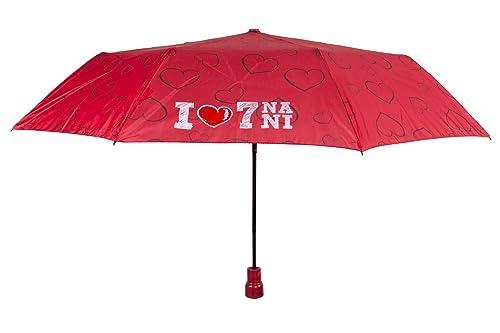Paraguas chica mini SETTE NANI MAMMOLO PERLETTI DISNEY rojo automático Q833