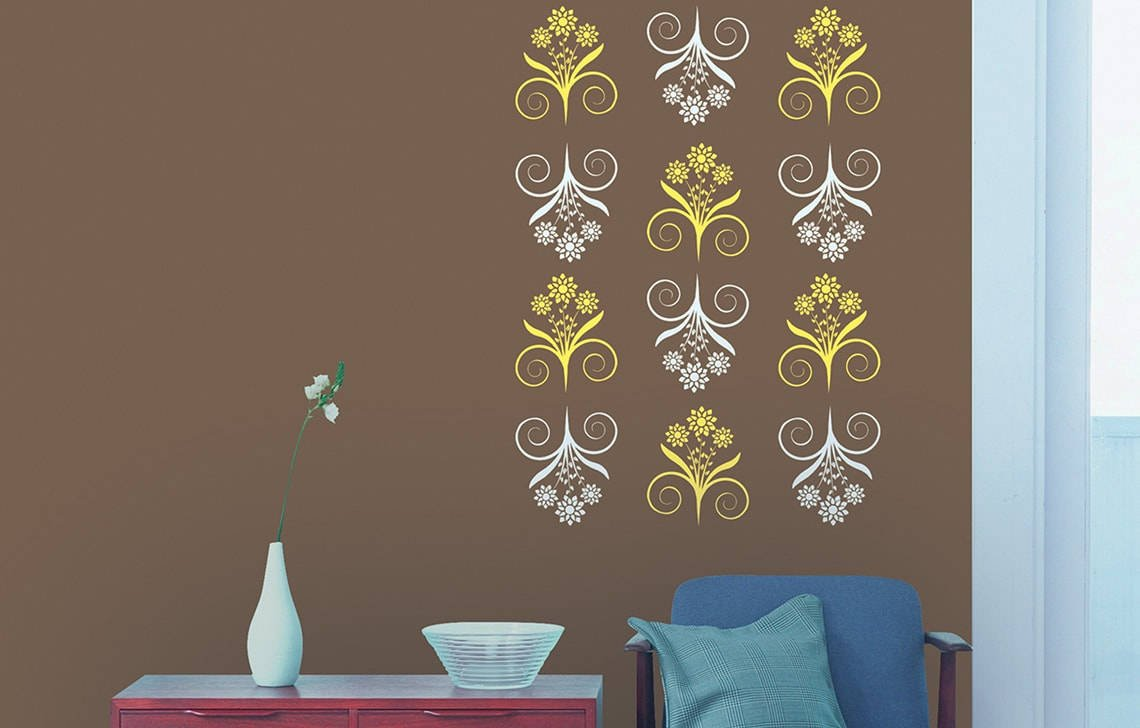 Buy Asian Paints Royale Play Wall Fashion Bliss Stencil Wall Sticker For Home And Office Wall Decor Online At Low Prices In India Amazon In