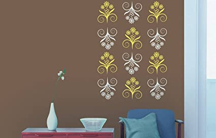 Buy Asian Paints Royale Play Wall Fashion Bliss Stencil Wall Sticker