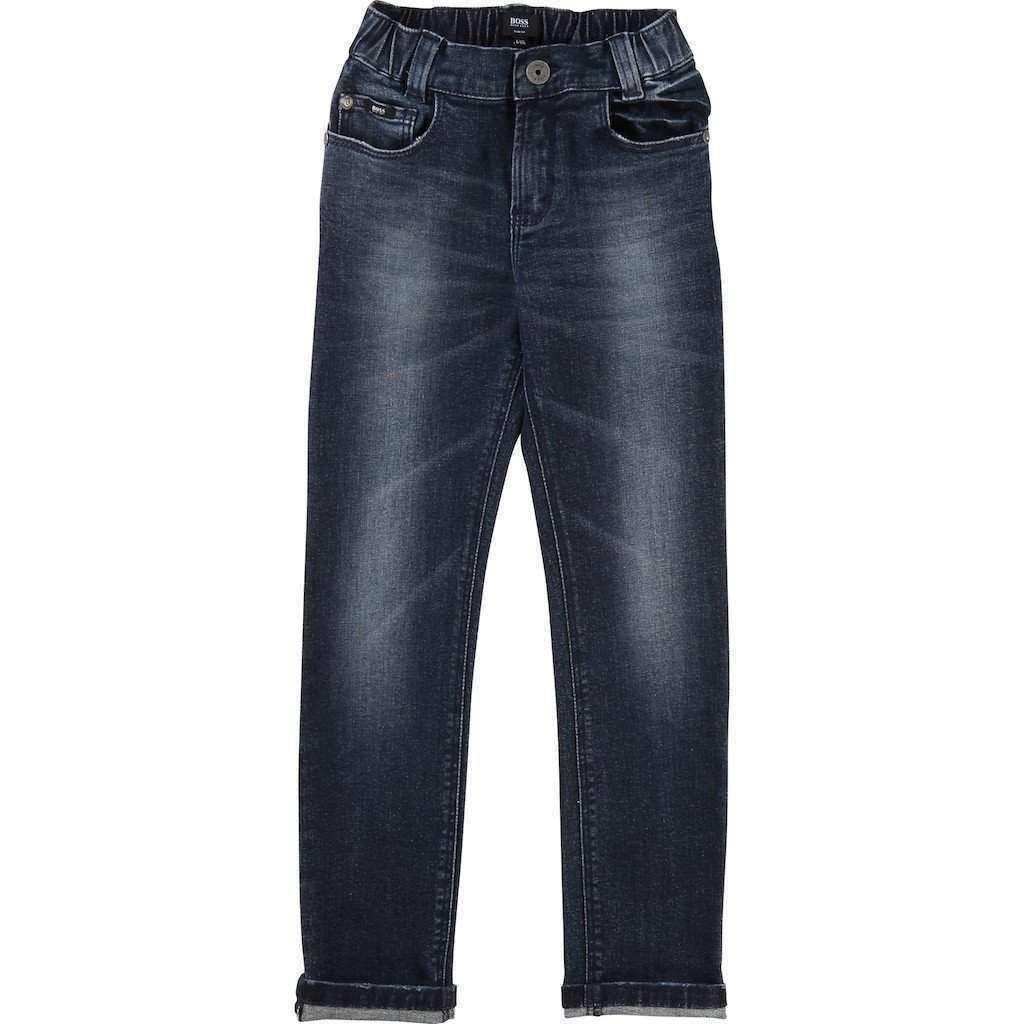 BOSS Cotton Denim Treated Pants