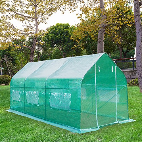 House Greenhouse - Z ZTDM 15'×7'×7' Outdoor Large Green House Walk in Greenhouses Tents Plants Gardening Backyard Protective Shed Nursery Grow (15'×7'×7')