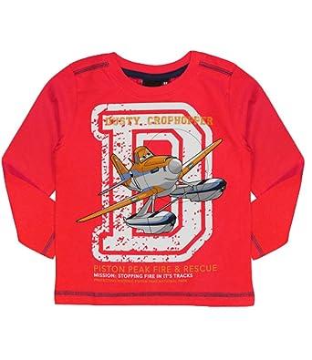 960f06922ab5 Disney Planes Dusty Long Sleeve T-Shirt Red 7-8 Years  Amazon.co.uk   Clothing
