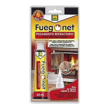 FUEGO NET Fuegonet 231295 Pegamento Refractario, Transparente ...