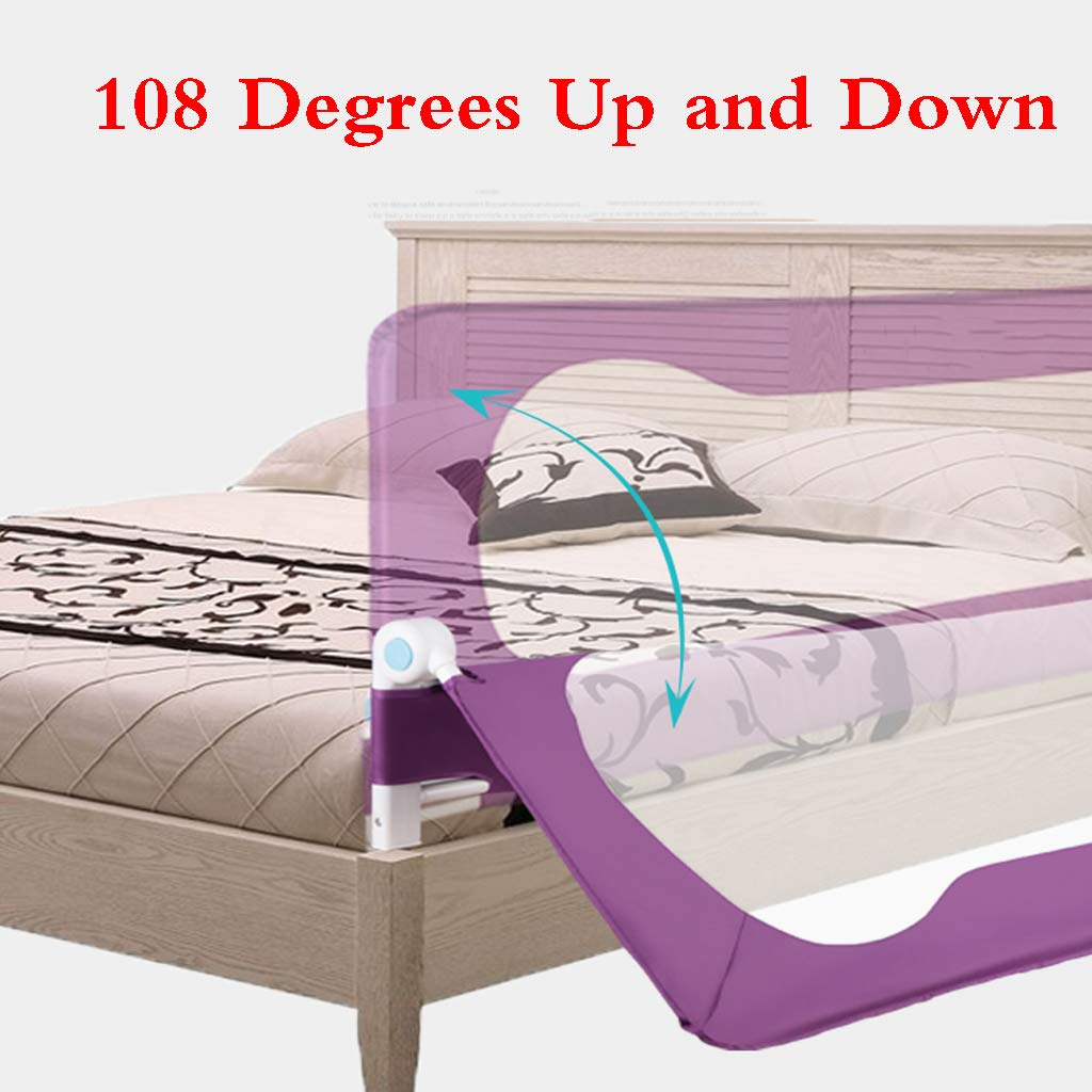 Bed Fence Baby Shatter-Resistant Protective Railing Vertical Lifting Baby Children Bedside Single Toddler Bed Rail Child Safety Bed Guard Folding Infant Baby Bedrail Protection Guards by SONGTING Guardrail (Image #2)