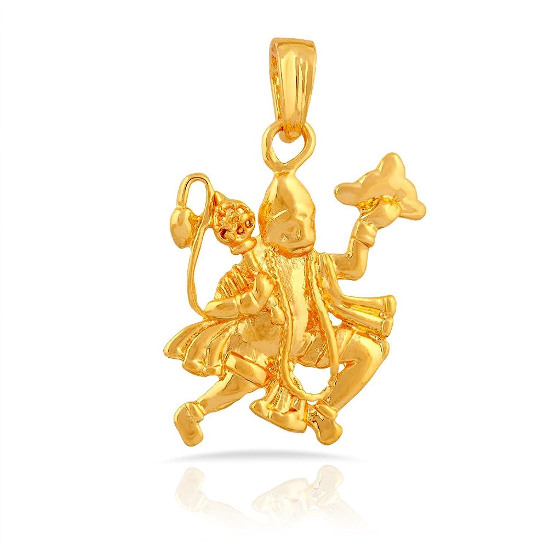 Buy mahi gold plated hanuman ji pendant with cz for women buy mahi gold plated hanuman ji pendant with cz for women ps1101503gc online at low prices in india amazon jewellery store amazon aloadofball Images