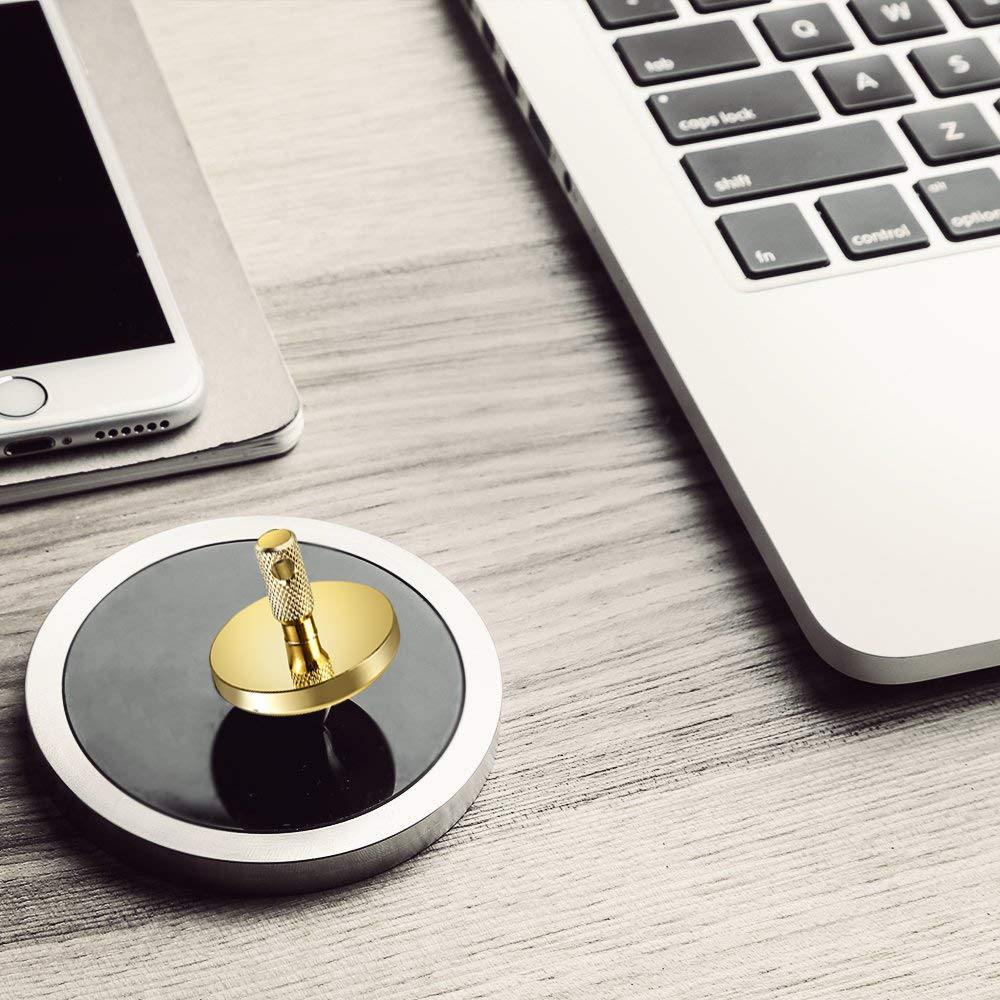 ShowDoo Spinning Top,Metal Copper Spinner Top Brass Gold Plated,EDC Desk Toys for Office for Adults and Kids,Unique Gift